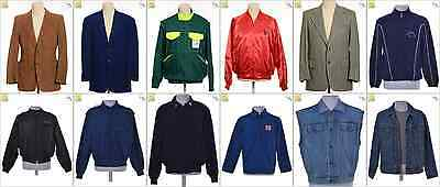 """JOB LOT OF 16 VINTAGE MEN""""S JACKETS - Mix of Era's, styles and sizes (21362)*"""