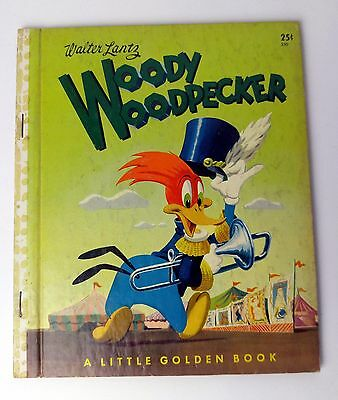 Vintage Walter Lantz Woody Woodpecker - Little Golden Book - Copyright 1952