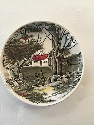Johnson Brothers China Coaster ~ Country scene ~4 ¼ In Diameter
