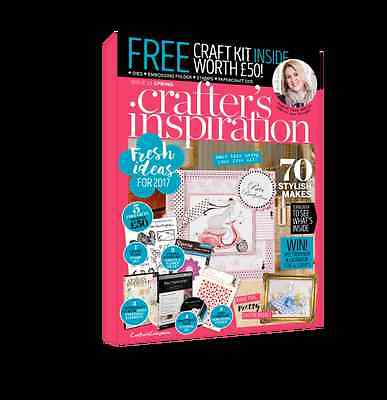 Crafter's Inspiration Magazine  Issue 13 Spring 2017 - with £50 craft kit