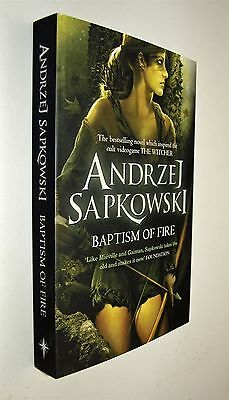 Baptism of Fire Andrzej Sapkowski Book The Witcher Series Science Fantasy New