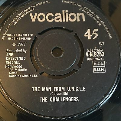 The Challengers 'the Man From U.n.c.l.e' Rare Wigan Northern Soul 60's Mod Rnb