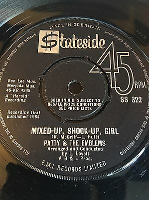 Patty & The Emblems 'mixed Up, Shook Up' Rare Northern Soul 60's Mod Rnb