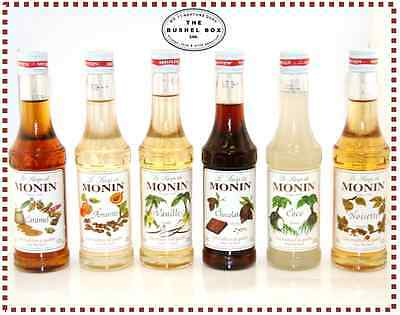 Monin Coffee Syrups - 25cl Glass Bottles - Various flavours - As used at Costa