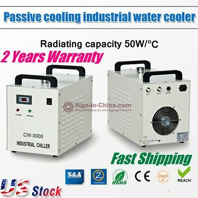 US Stock, CW-3000DG Industrial Water Chiller for Laser Engraver with glass tube