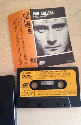 Phil Collins - Face Value MC cassetta Made In Italy