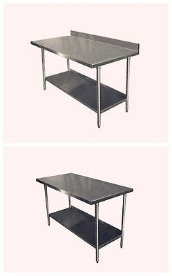 Stainless Steel Commercial Catering Table Work Bench Kitchen Top ( Variety Size)