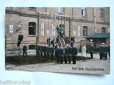 """Early Vintage German Military Postcard:Sent in 1911:""""From the Barracks"""""""