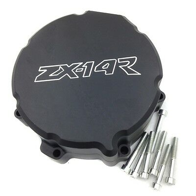 For Kawasaki ZX 14R ZX14R ZZR1400 2006-2013 BLACK left side Engine Stator cover