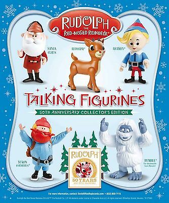 60 SETS Rudolph Red-Nosed Reindeer 50th Talking Figures ONLY 1 DEAL TUESDAY