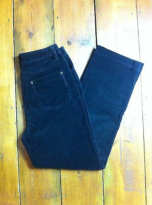 Vintage 90s Brown High Waisted Tapered Straight Mom Corduroy Jeans Retro 10