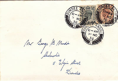 GB : GEORGE VI 4d & 5d DEFINITIVES ON FIRST DAY COVER (1938)