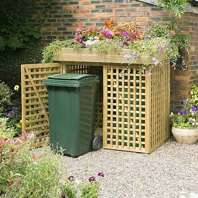 5ft DOUBLE WHEELIE BIN STORE with the planter