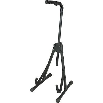 Musician's Gear Deluxe A-Frame Electric Guitar and Bass Stand Black