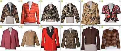 """JOB LOT OF 21 VINTAGE WOMEN""""S JACKETS - Mix of Era's, styles and sizes (20809)"""