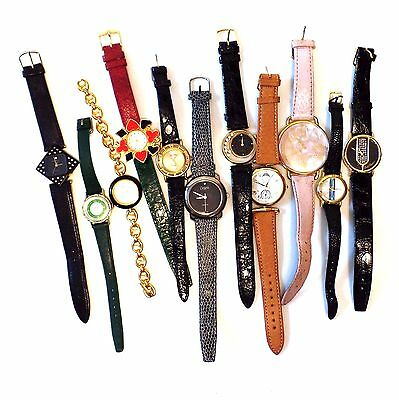 Junk Drawer Job Lot Of 11 Wrist Watches 80s Casual Fashion For Parts Untested