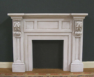 FIREPLACE ~ Handcrafted ~ Distressed ~JIM COATES ~Dollhouse Miniature ~ Room Box