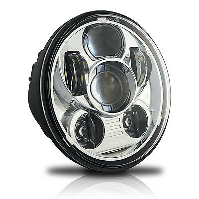 5.75 5 3/4 LED Headlight Daymaker Chrome Projector DRL for Harley Dyna Sportster