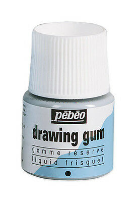 Pebeo Drawing Gum Tinted Masking Fluid for Watercolour Painting 45ml