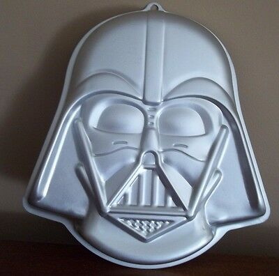 STAR WARS birthday DARTH VADER shaped halloween sheet CAKE BAKE sale party PAN