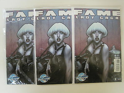 Bluewater Comics FAME LADY GAGA Cover B Comic Book Lot of 3