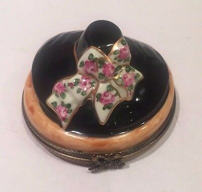 Limoges Trinket Box - Hat With Bow