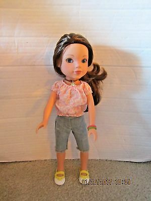 """2010 Playmates Hearts 4 Hearts 14"""" Doll Dell from Kentucky Brown Hair Blue Eye"""