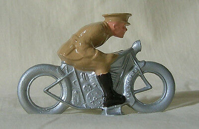 WWII Army Officer on Motorcycle, Standard Gauge layout figure, New/Reproduction