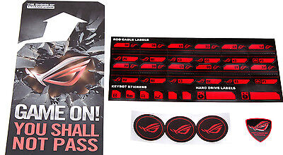 ASUS ROG REPUBLIC OF GAMERS 3D badge, fan, cable sticker set
