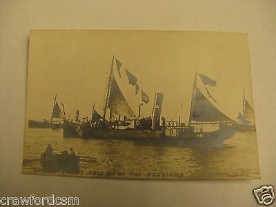 Gamecock Fleet Fired on by Russians 1904 Great Britain Dogger Bank Incident RPPC
