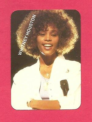 Whitney Houston Music Collectible Card 1991; Pop Music Singer;
