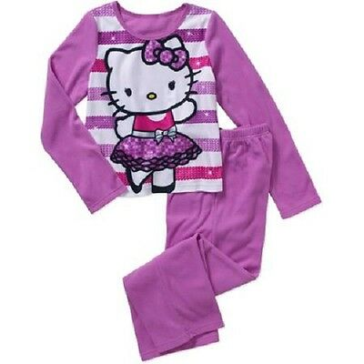 Girls Hello Kitty 2pc Flannel Pajama Set Sz 4/5 BNWT!! Warm & Cozy!! Kids