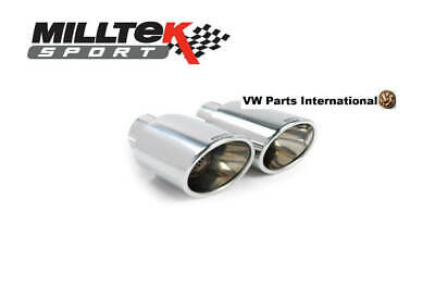 VW Scirocco MK3 TSI R MILLTEK Sport 2x Polished Oval Tips Tail Pipes Trims Only