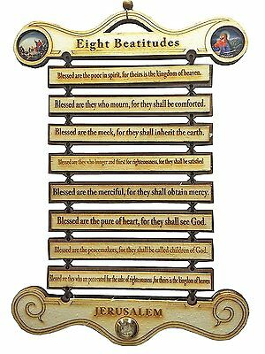 Wooden Eight Commandments Pine Wood Wall Hanging ,Wall easter jesus hanging, for