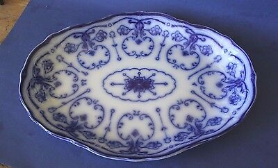 Antique New wharf , Flow Blue Large Platter. Over 100 years old.