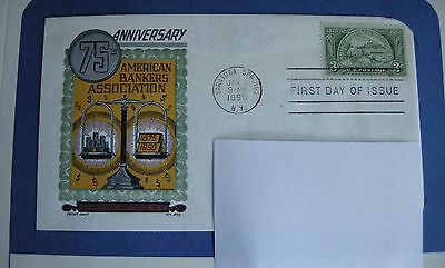 1950 FDC, 75th Anniversary, American Bankers Association, 3 cent