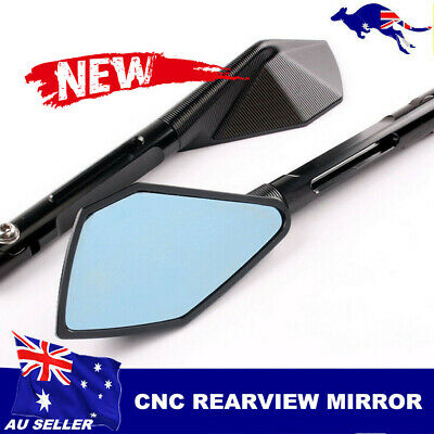 Motorcycle Rearview CNC Billet Side Mirrors For Honda Ducati Universal