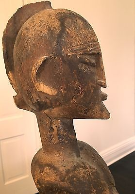 African Art Dogon Figure Mali Carved Wood Sculpture Sacrificial Patina