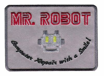 Mr Robot Computer Repair With a Smile Costume Patch Iron On Parche Termoadhesivo