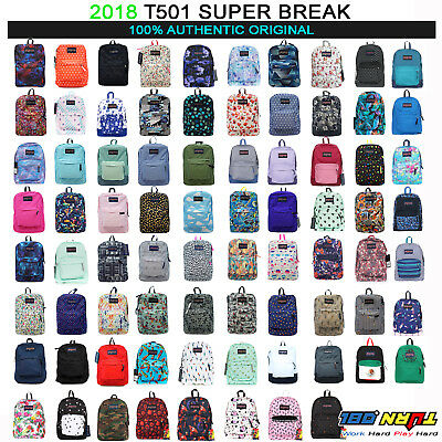 2017 JANSPORT T501 Superbreak BACKPACK Student School Bag 100% AUTHENTIC