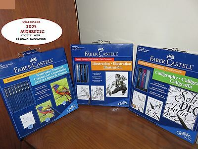 LOT of 3 Faber-Castell Getting Started Kits Watercolor*Illustration*Calligraphy