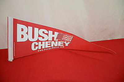 George W Bush Dick Cheney 2000 Campaign Red Pennant Flag President  1344