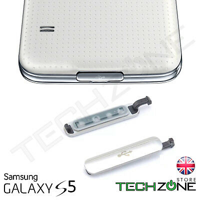 Samsung Galaxy S5 i9600 USB Charging Port Dust Waterproof Charger Cover Silver
