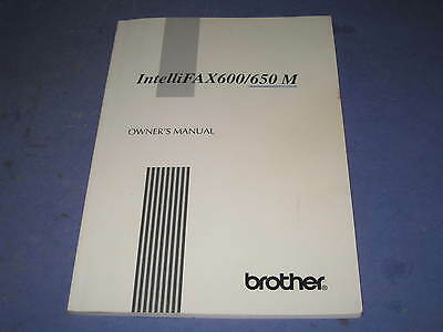 Brother Intellifax 600/650 M Owner Manual             4C3