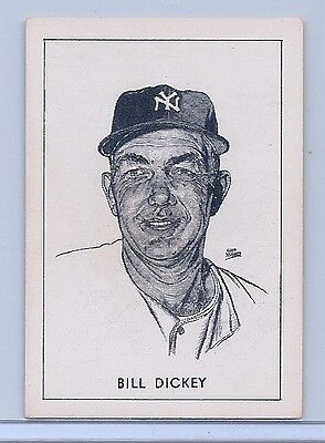 1950 Callahan Hall Of Fame Card of BILL DICKEY, 1st Paragraph Ends... He Was