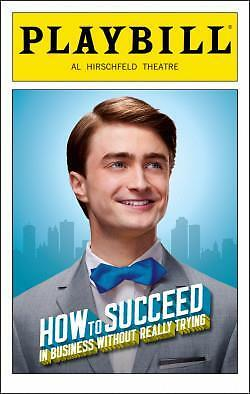 Daniel Radcliffe Playbill How to Succeed in Business Without Really Trying Color