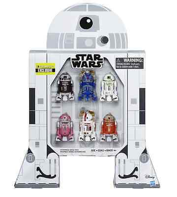 Star Wars Astromech Droid Exclusive 6 Figure Set 3 3/4 Inch