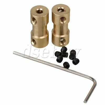 2pcs Brass Joint Shaft Motor Flexible Coupling Coupler Connector 3mm to 4mm