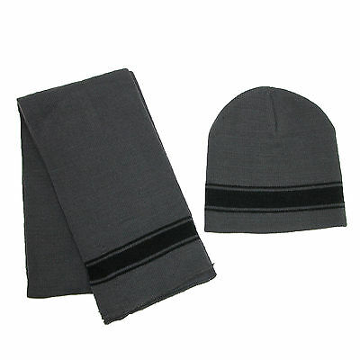 New CTM Boys' 2-4 Striped Hat and Scarf Set