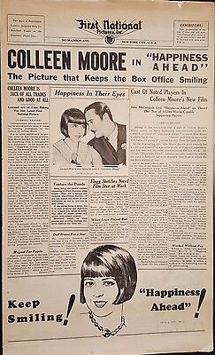 """Colleen Moore in """"Happiness Ahead"""" - 1928 Silent Movie Press Sheet"""